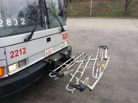 GCRTA Bus Rack