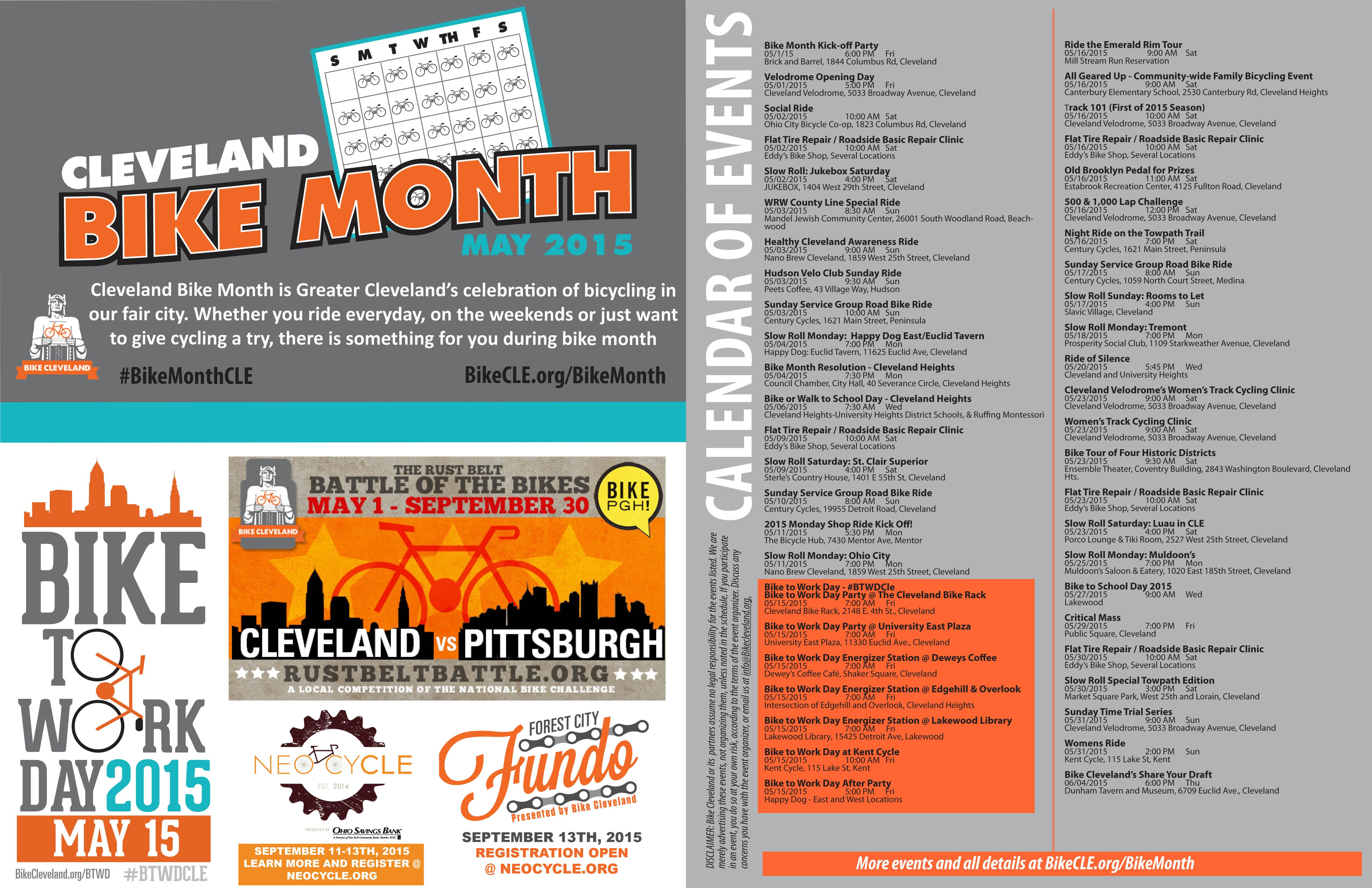 Bike Month Calendar
