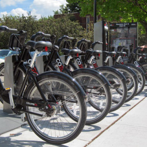 """""""COGO"""" Columbus Bike Share. A picture you will soon be seeing in Cleveland."""