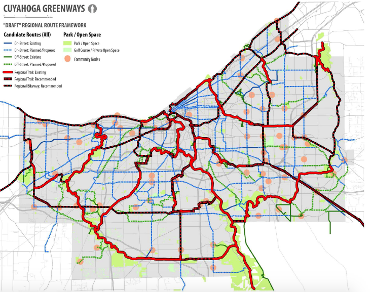 Bike cleveland working for safe streets cuyahoga greenway meetings cleveland metroparks and noaca to build an interconnected system of greenways and trails that link neighborhoods parks and public transportation publicscrutiny Choice Image